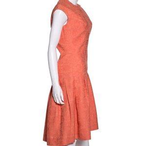 Lela Rose Cap Sleeve Coral Dress. Size 8. NWT
